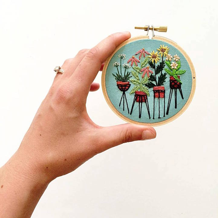 Illustrator Creates Exquisitely Embroidered Scenes That Look Like