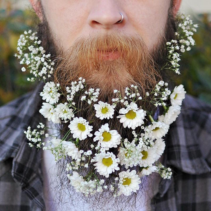 Flower Beard Man