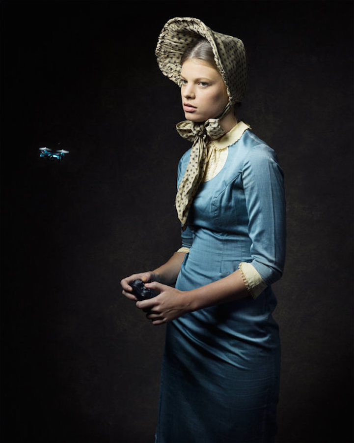 19th century portraits reimagined with modern technology by Qingjian Meng