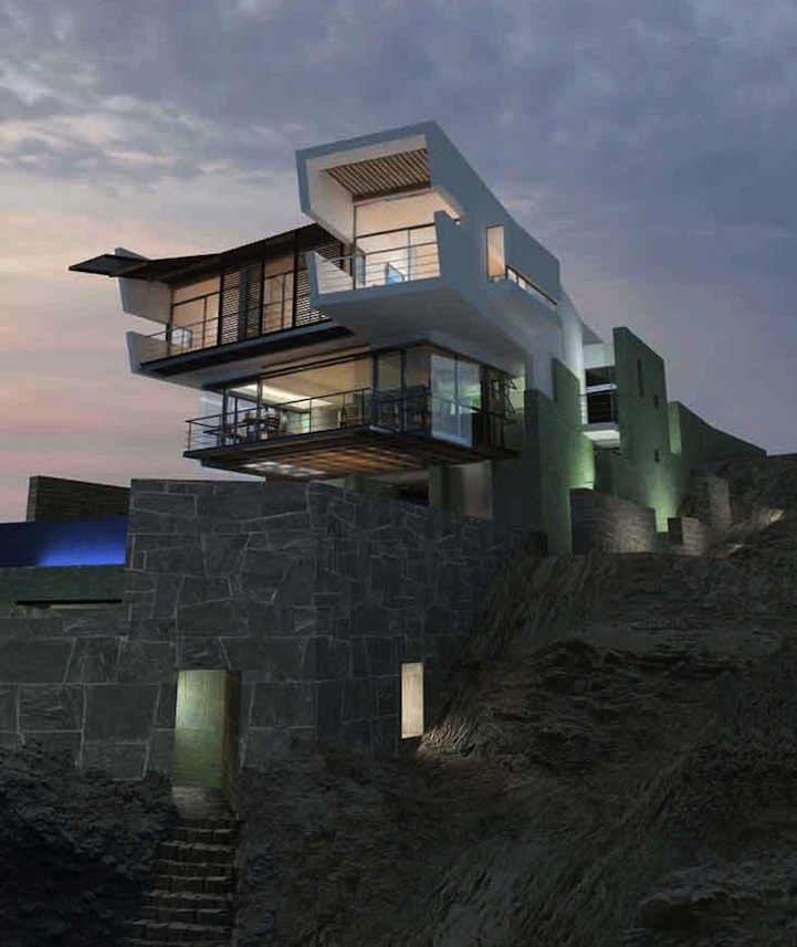 cliff hanging peruvian beach house 12 pics