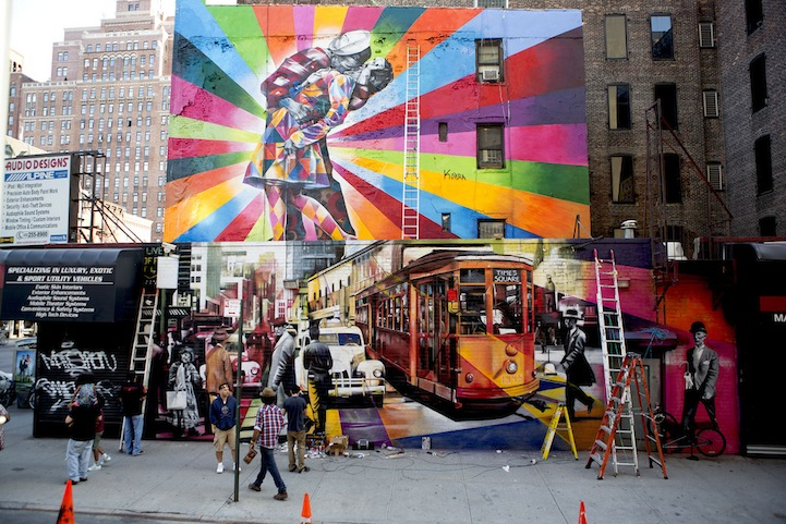 Foto Murales New York.Magnificent Large Scale Murals Brighten The World