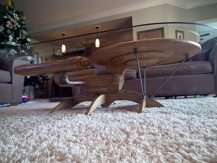 Nice Craftsman Beautifully Fashions Ships From Star Wars And Star Trek Into Coffee  Tables Awesome Ideas