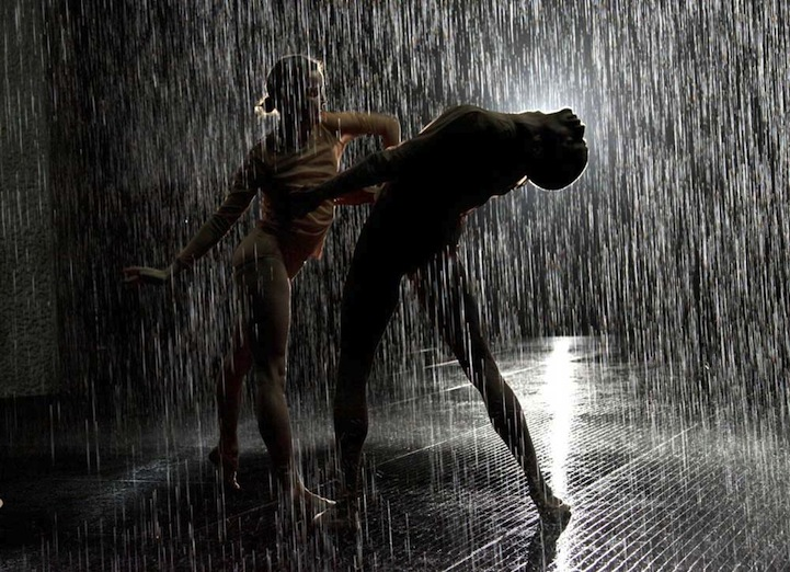 Dramatic Dance Performances In The Mystical Rain Room
