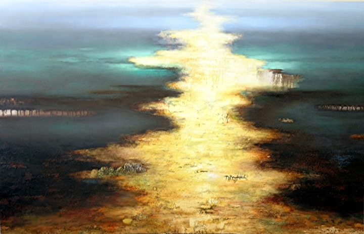 Luminous Textured Landscape Paintings