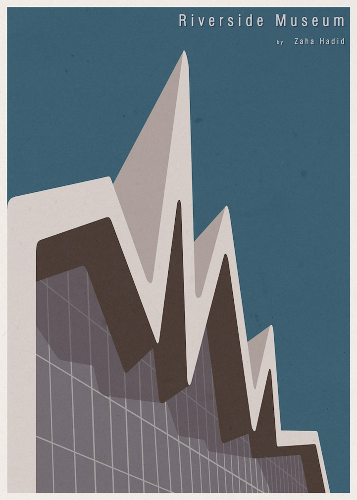 Minimalist architecture posters by andre chiote for Famous minimalist designers