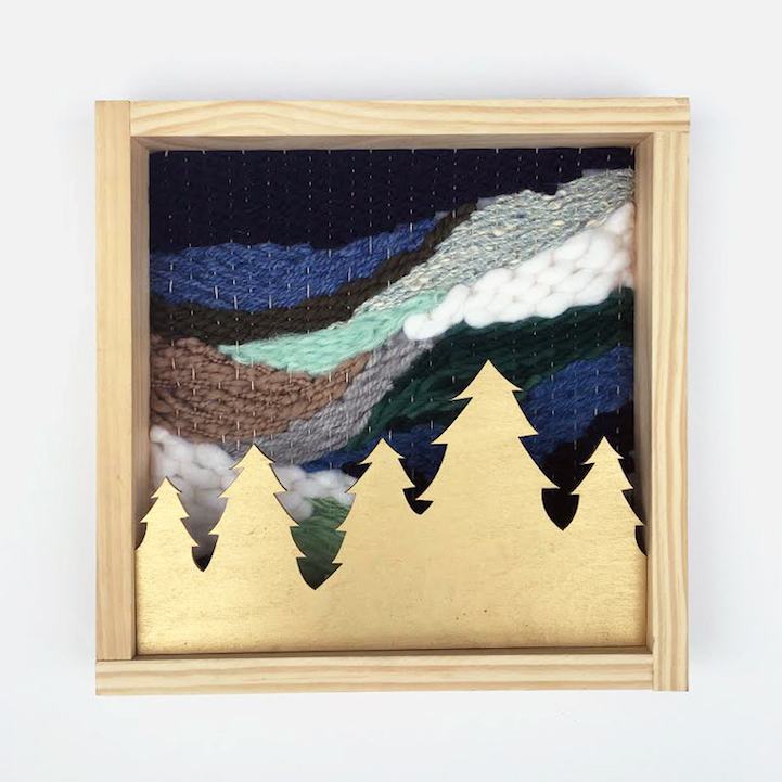 Woven Wall Art Uses Colorful Thread to Recreate the Beauty of ...
