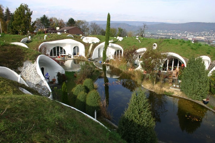 Real Hidden Earth House Oasis in Switzerland