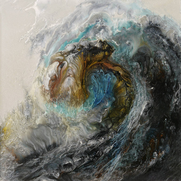 Oil And Water Swirl Painting