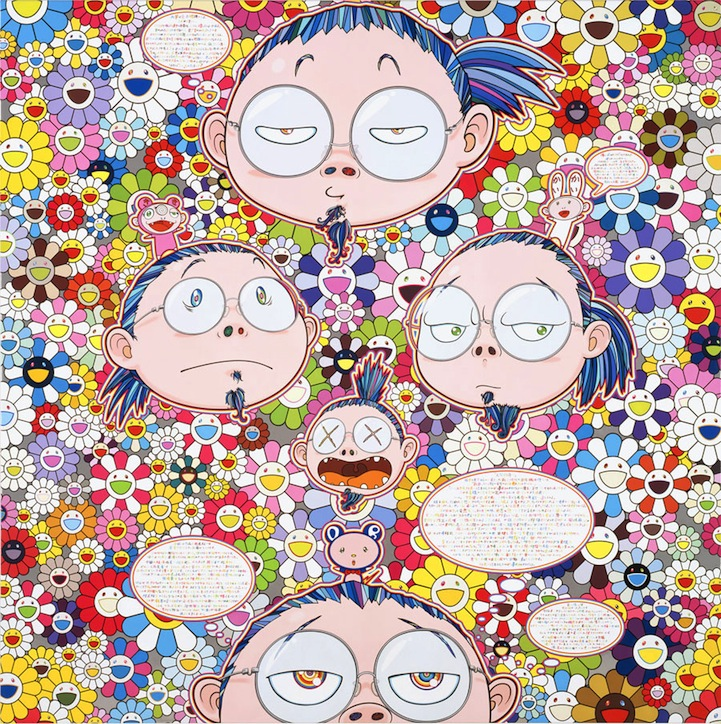 Takashi Murakami S Spirited Flowers Amp Skulls Exhibit Opens