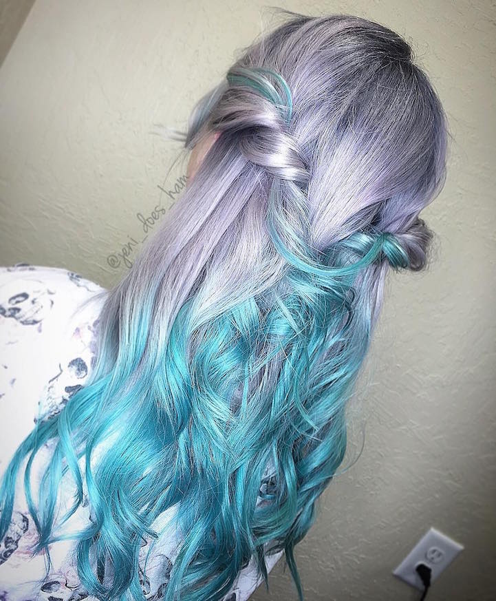 Quot Mermaid Hair Quot Trend Has Women Dyeing Hair Into Sea Inspired Colors
