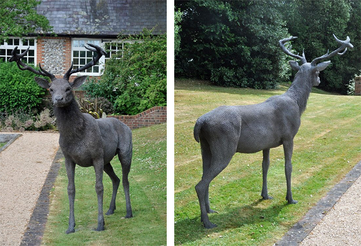 Life-Size Animal Sculptures Made Entirely Out of Galvanized Wire