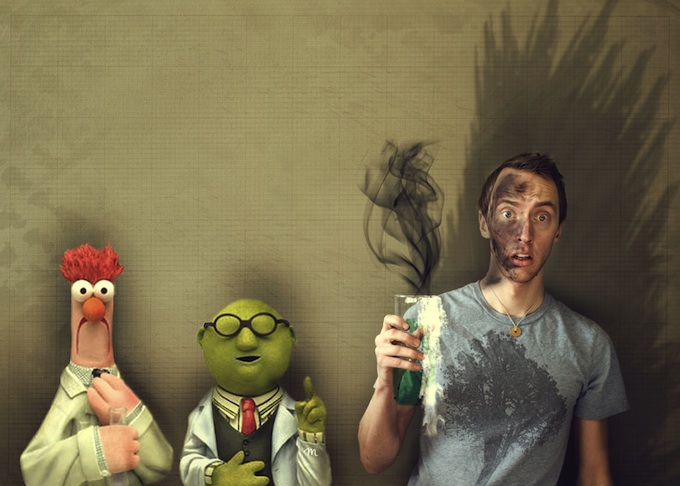 Cardboard Cut Outs And Photo Manipulations 12 Photos