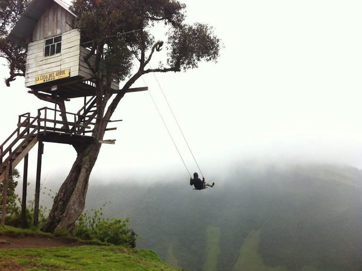 Swing At The End Of The World Is Located Off A Giant Cliff My