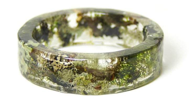 Earthy Bracelets Made With Clear Resin