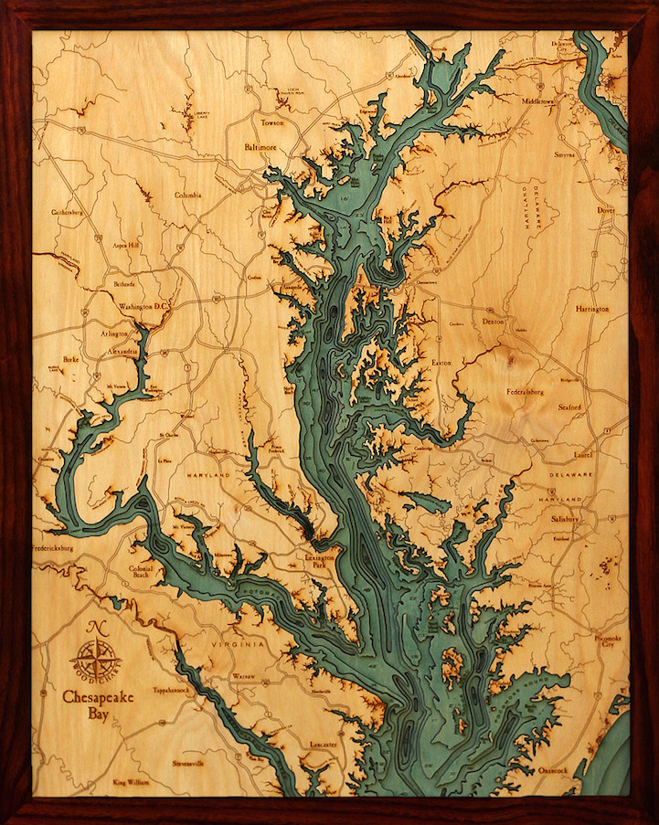 Laser Cut World Map.3d Laser Cut Wood Maps Show Hidden Underwater World