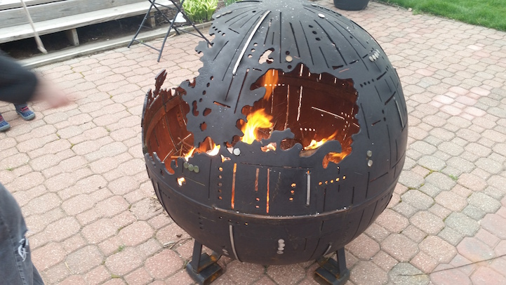 Star Wars Inspired Death Star Fire Pits Are Handcrafted