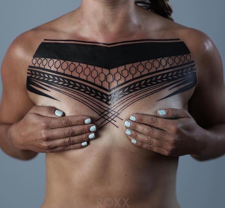 Minimalist Environmental Tattoo: Striking Geometric Tattoos Inspired By Nature's