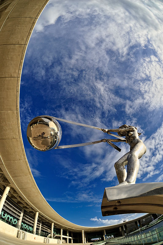 Gravity Defying Sculpture Of Mother Nature Rotating Earth