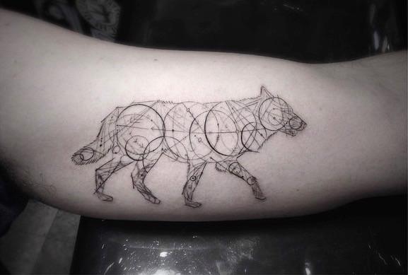 Line Art Tattoo : Geometric fine line tattoos by la s famous dr woo