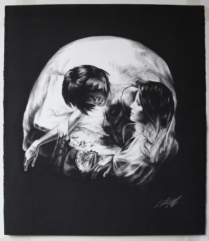 Charcoal Drawings Of Skulls Show Incredible Artistic Talent