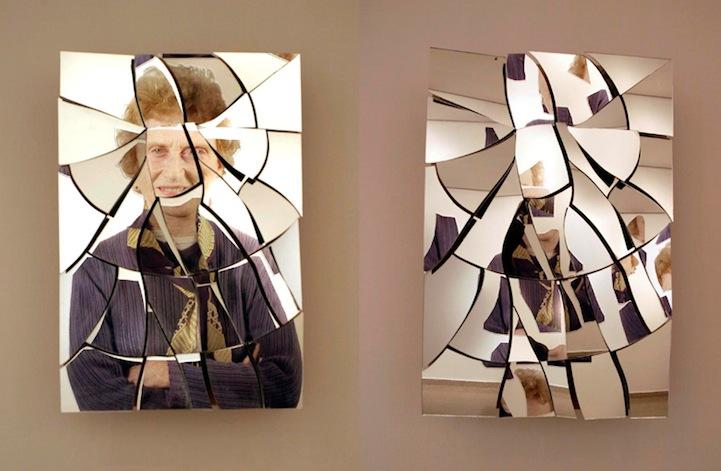 Striking reflection art for Broken mirror art