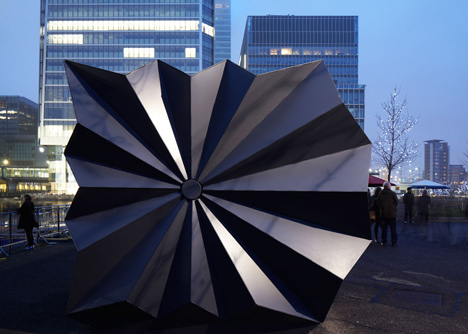 Geometric Folding Metal Kiosks Inspired By Origami