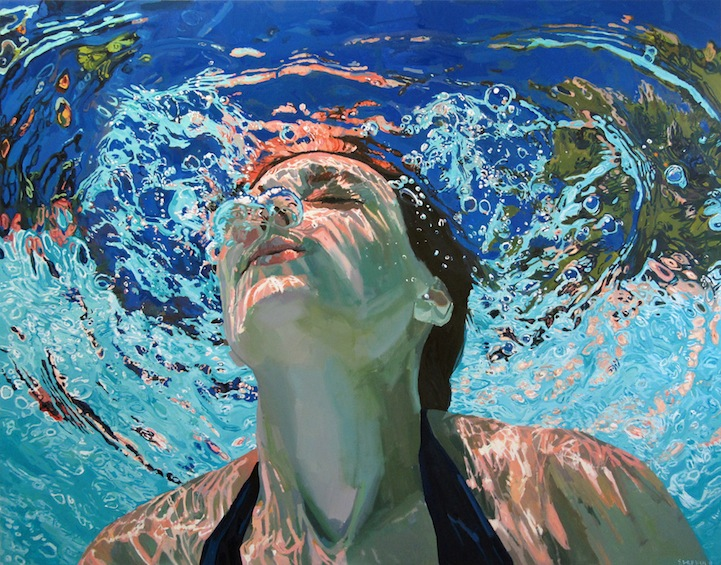 Underwater Oil Paintings Glistening Underwater ...
