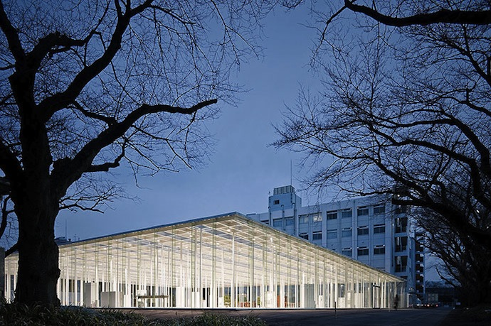 Modern Architecture Japanese School Made Of Glass 7 Photos