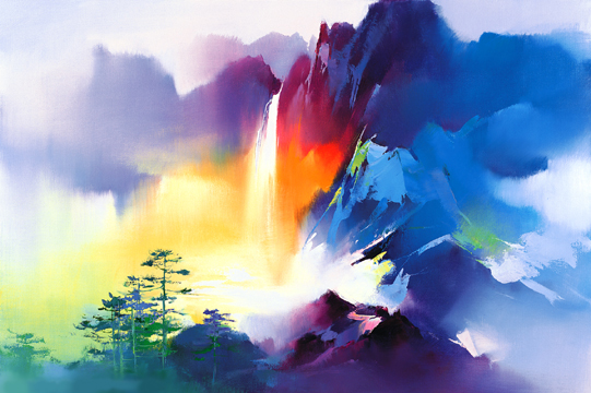 breathtakingly enchanted landscapes radiate with color