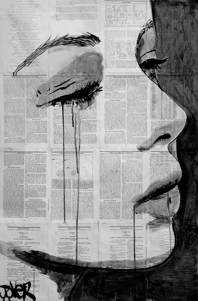 Powerful Pen And Dripping Ink Drawings On Pages Of Vintage