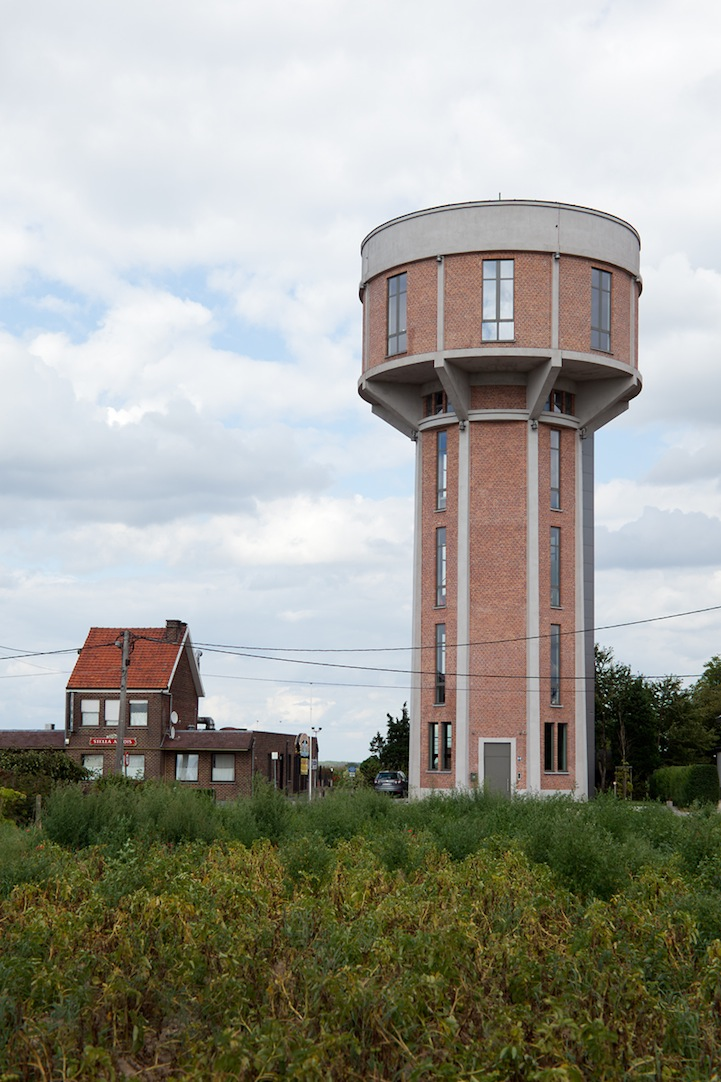 Old water tower converted into a beautiful modern home - The house in the old franciscan tower ...