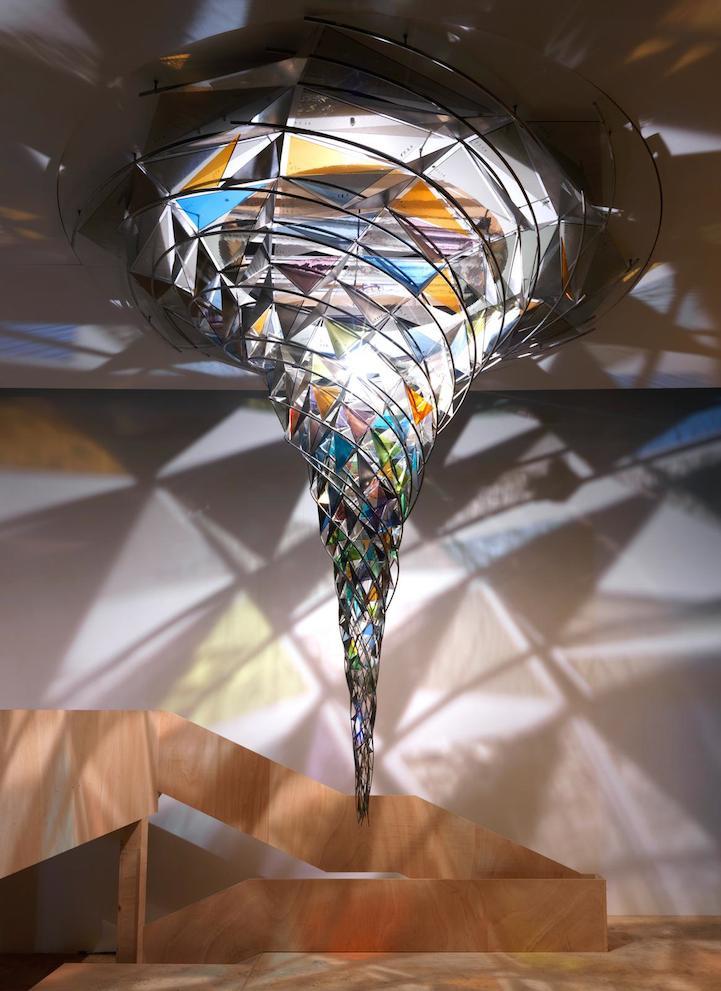 Mesmerizing Kaleidoscopic Glass Installations By Olafur