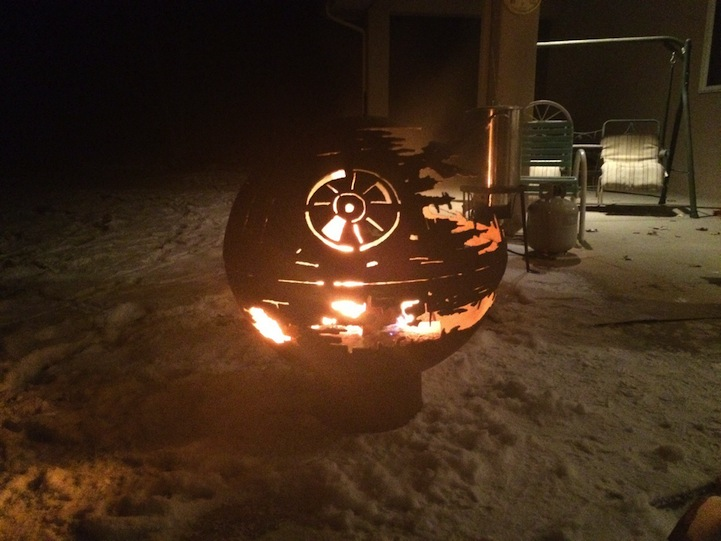 - Spectacular Death Star Fire Pit Welded By 84-Year-Old Grandfather