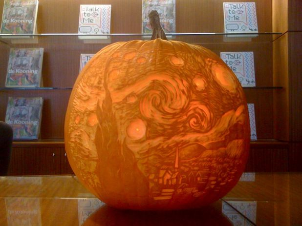 Just How Does A Museum Like The Moma Get Into Spirit They Create Show Off Very Beautiful Carving Of Van Gogh S Starry Night