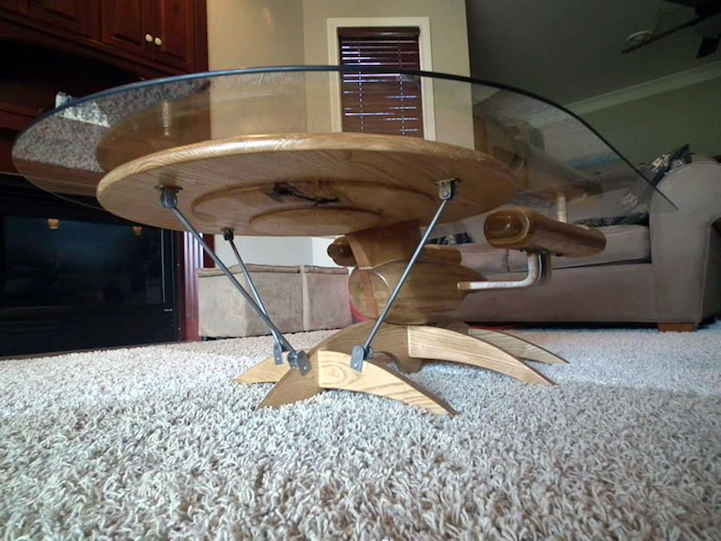Amazing Craftsman Beautifully Fashions Ships From Star Wars And Star Trek Into Coffee  Tables