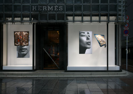 f5cbfa3dee5cd Creative Window Display: Herms Blowing Scarf (Video Inside)