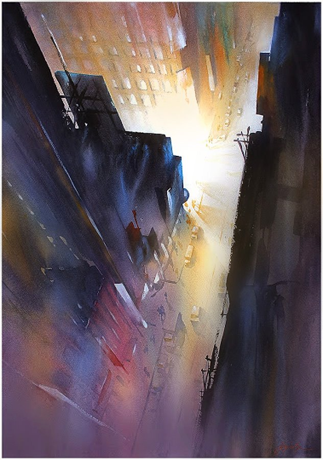 Commercial Van For Sale >> Beautiful Watercolor Paintings of Architecture by Thomas W ...