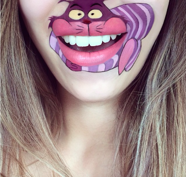 cheshire cat laura jenkinson lip art cartoon character makeup mouth lipstick