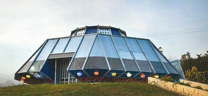 Spectacular UFO House Sighted in Puerto Rico