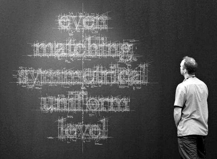 Meticulous Blueprint Chalk Typography