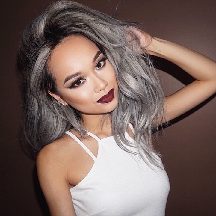 gray ombre hair trend