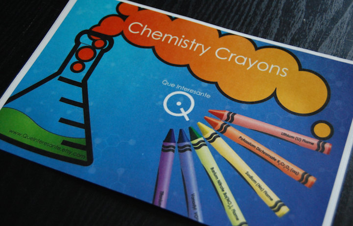 labeled periodic table crayons