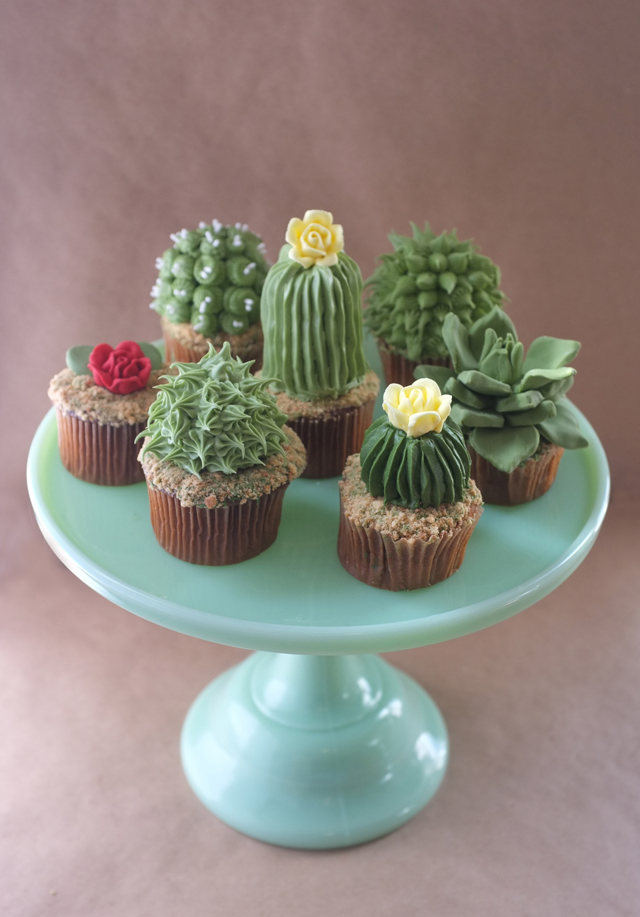 Adorable Cupcakes Look Just Like Real Cactus Plants