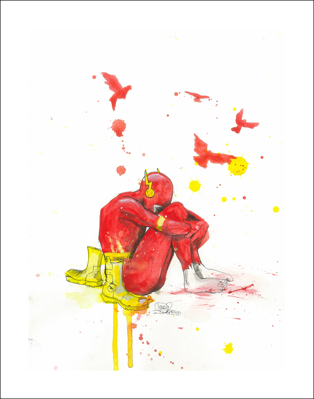 Depressed Superheroes by Lora Zombie