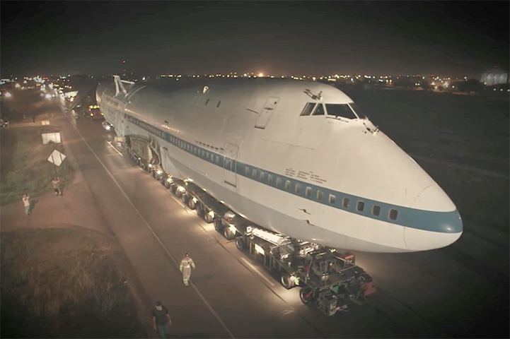 Giant Boeing 747 Is Converted Into the Largest Art Car to Ever Land