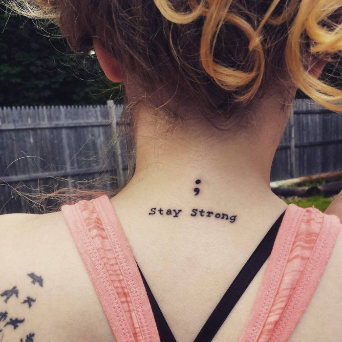 Tattoo For Mental Health Awareness: Tattoos Of Semicolons Offer Love And Hope To Those