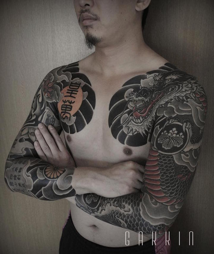 tattooist fuses contemporary freehand techniques with traditional japanese themes. Black Bedroom Furniture Sets. Home Design Ideas