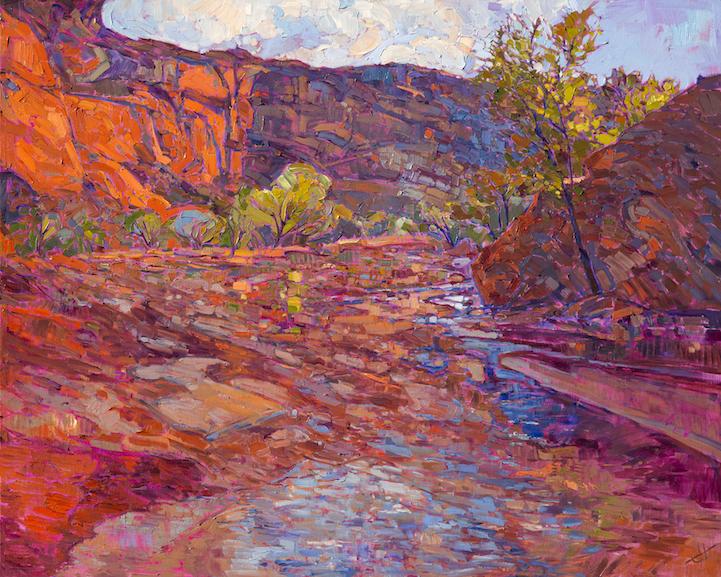 Energetic Landscape Paintings Portray Artist Erin Hansons